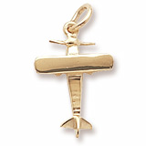 10k Gold Single Engine Airplane Charm by Rembrandt Charms