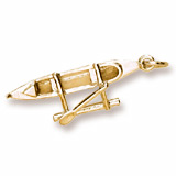 14K Gold Outrigger Canoe Charm by Rembrandt Charms