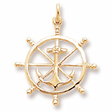10k Gold Anchor and Ship Wheel Charm by Rembrandt Charms