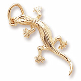 Gold Plate Lizard Charm by Rembrandt Charms