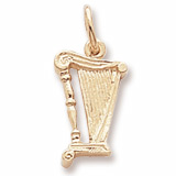 Gold Plate Harp Accent Charm by Rembrandt Charms