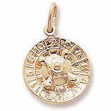 Gold Plate Roulette Wheel Charm by Rembrandt Charms