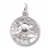 14K White Gold Roulette Wheel Charm by Rembrandt Charms