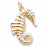 14K Gold Curly Tail Seahorse Charm by Rembrandt Charms