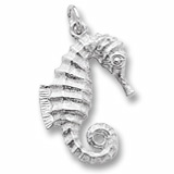 14K White Gold Curly Tail Seahorse Charm by Rembrandt Charms