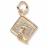 14k Gold Graduation Cap Accent Charm by Rembrandt Charms
