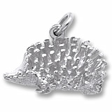 14K White Gold Hedgehog Charm by Rembrandt Charms