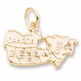 14K Gold Canada Map Charm by Rembrandt Charms