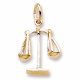 10K Gold Scales of Justice Charm by Rembrandt Charms