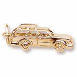 Gold Plate Station Wagon Charm by Rembrandt Charms