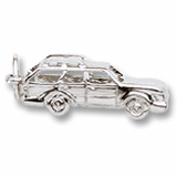 14K White Gold Station Wagon Charm by Rembrandt Charms