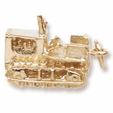 Gold Plate Bulldozer Charm by Rembrandt Charms