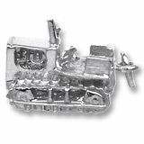 14K White Gold Bulldozer Charm by Rembrandt Charms