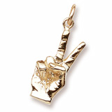 14K Gold Sign of Peace Charm by Rembrandt Charms