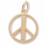 14K Gold Peace Symbol Charm by Rembrandt Charms