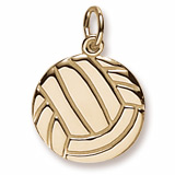 10K Gold Flat Volleyball Charm by Rembrandt Charms