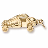 14K Gold Non-Winged Sprint Car Charm by Rembrandt Charms