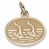 10K Gold Synchronized Swimming Charm by Rembrandt Charms