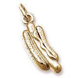14K Gold Hot Dog Charm by Rembrandt Charms