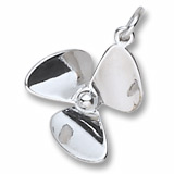 Sterling Silver Small Propeller Charm by Rembrandt Charms
