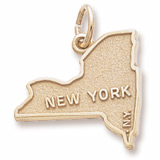 10K Gold New York Map Charm by Rembrandt Charms