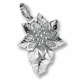 14K White Gold Poinsettia Flower Charm by Rembrandt Charms