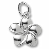 Sterling Silver Plumeria Flower Charm by Rembrandt Charms