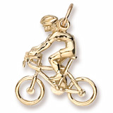Gold Plated Bicycle Cyclist Charm by Rembrandt Charms