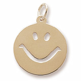 Gold Plated Happy Face Charm by Rembrandt Charms