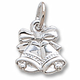14K White Gold Bells Charm by Rembrandt Charms