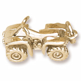 10K Gold All Terrain Vehicle Charm by Rembrandt Charms