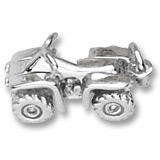 14K White Gold All Terrain Vehicle Charm by Rembrandt Charms