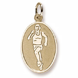 Gold Plated Runner Charm by Rembrandt Charms