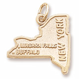 14k Gold New York State Charm by Rembrandt Charms