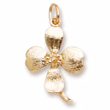 Gold Plate Dogwood Charm by Rembrandt Charms