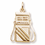 Gold Plated Gas Pump Charm by Rembrandt Charms