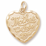 10K Gold Mother We Love You Heart Charm by Rembrandt Charms