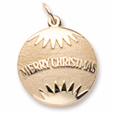 Gold Plated Christmas Ornament Charm by Rembrandt Charms