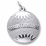 14K White Gold Christmas Ornament Charm by Rembrandt Charms