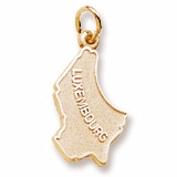 Gold Plated Luxembourg Charm by Rembrandt Charms