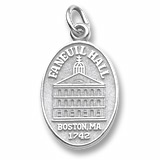 14K White Gold Faneuil Hall Charm by Rembrandt Charms
