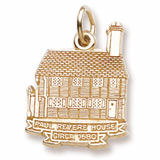 Gold Plated Paul Revere House Charm by Rembrandt Charms