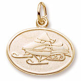 10K Gold Snowmobile Charm by Rembrandt Charms