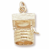 Gold Plate Wishing Well Charm by Rembrandt Charms
