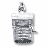 14K White Gold Wishing Well Charm by Rembrandt Charms