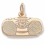 10K Gold Boom Box Charm by Rembrandt Charms