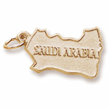 Gold Plated Saudi Arabia Charm by Rembrandt Charms