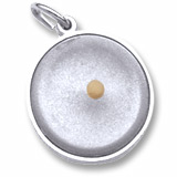 14k White Gold Mustard Seed Charm by Rembrandt Charms