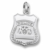 Sterling Silver Police Badge Charm by Rembrandt Charms