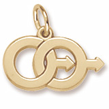 Gold Plated Male Twins Charm by Rembrandt Charms